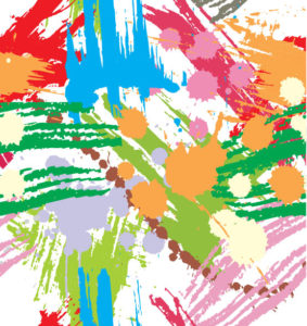 Colourful Paint Blots Seamless Background Vector